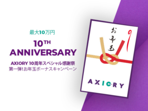Axioryの2021年の10周年ボーナスキャンペーン