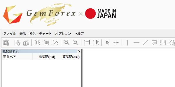 GEMFOREXのWebTraderページ