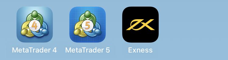 Exnessのスマホアプリ